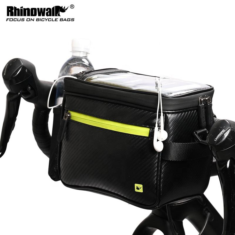 Rhinowalk MTB Road Bike waterproof Handlebar bags bicycle frame phone bag with phone cases