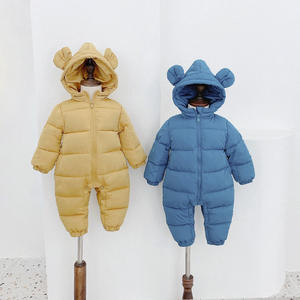 2020 New Arrival kids winter clothes Custom baby winter romper new born baby clothes jumpsuit snowsuit bodysuit