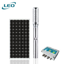 LEO 4/5/6 Inch Diameter AC/DC Water Submersible Deep Well Pumps Fountain Solar Pumps