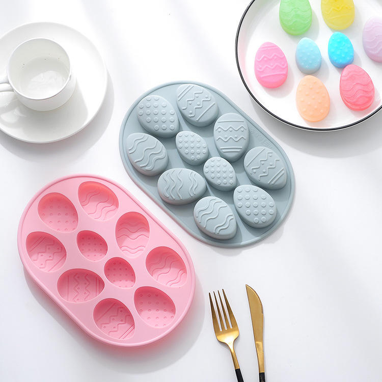 10 DIY baking mold for Easter egg silicone cake