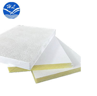 Acoustic panels fiber glass wool insulation ceiling title 12mm low glass wool price