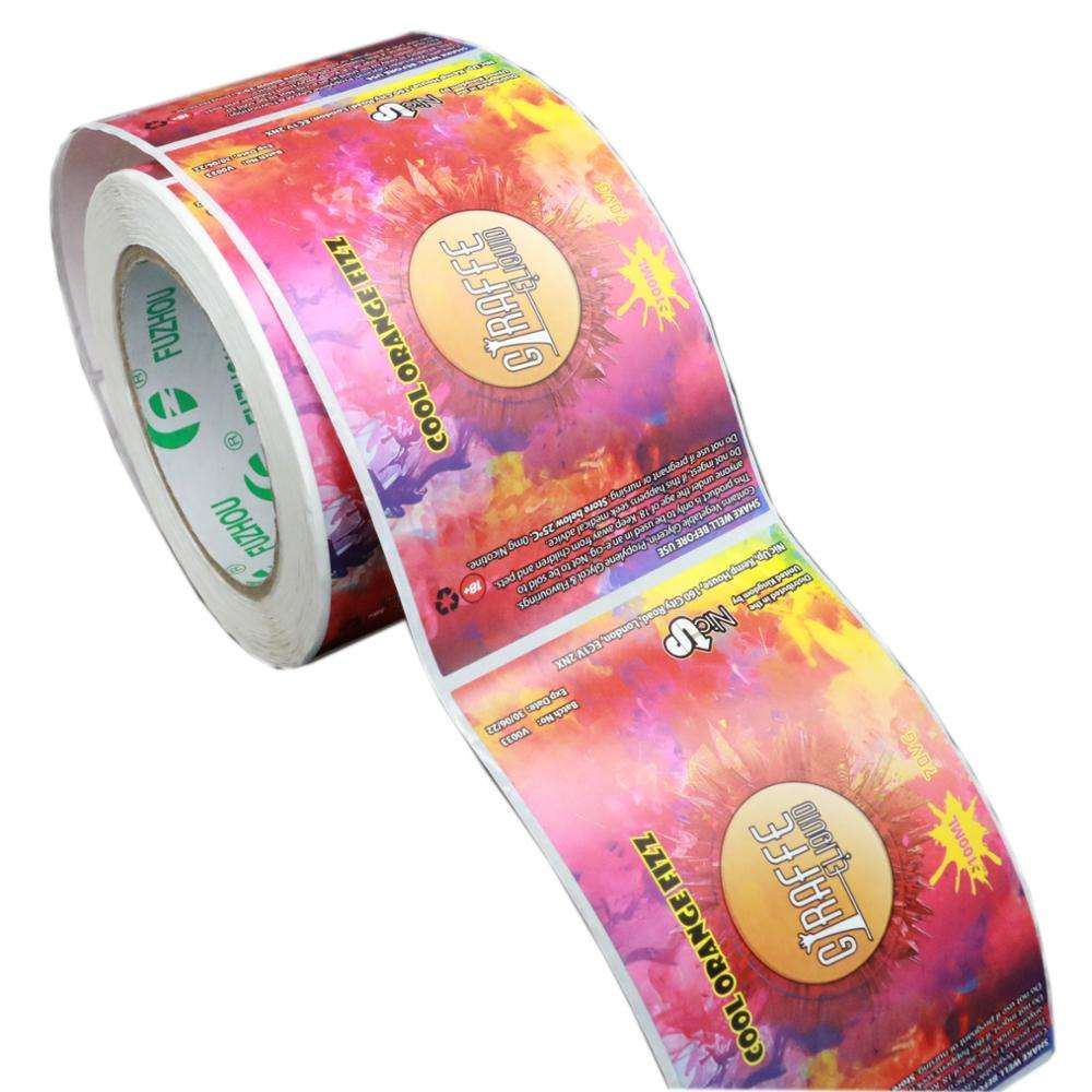 High Quality Custom Printed cheap Waterproof Self Adhesive Plastic paper Round Cosmetic Bottle Product Bottle Label Sticker