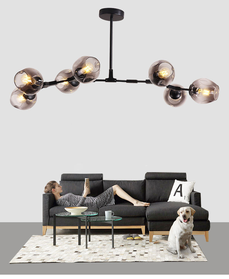 Nordic style hanging decorative modern home decor lighting LED pendant lamp chandelier for living room