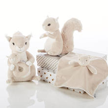 New design soft stuffed  plush animals squirrel toys collection for baby gifts set