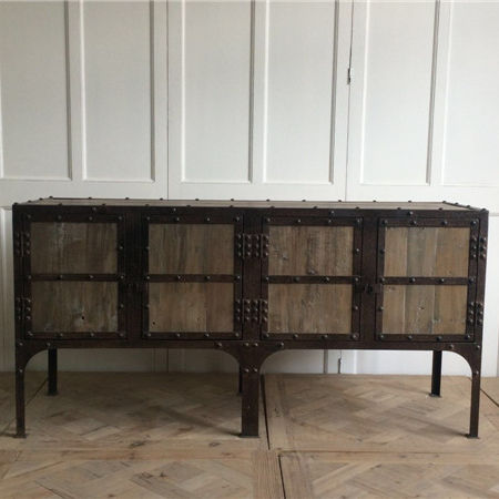 metal industrial sideboard buffet furniture