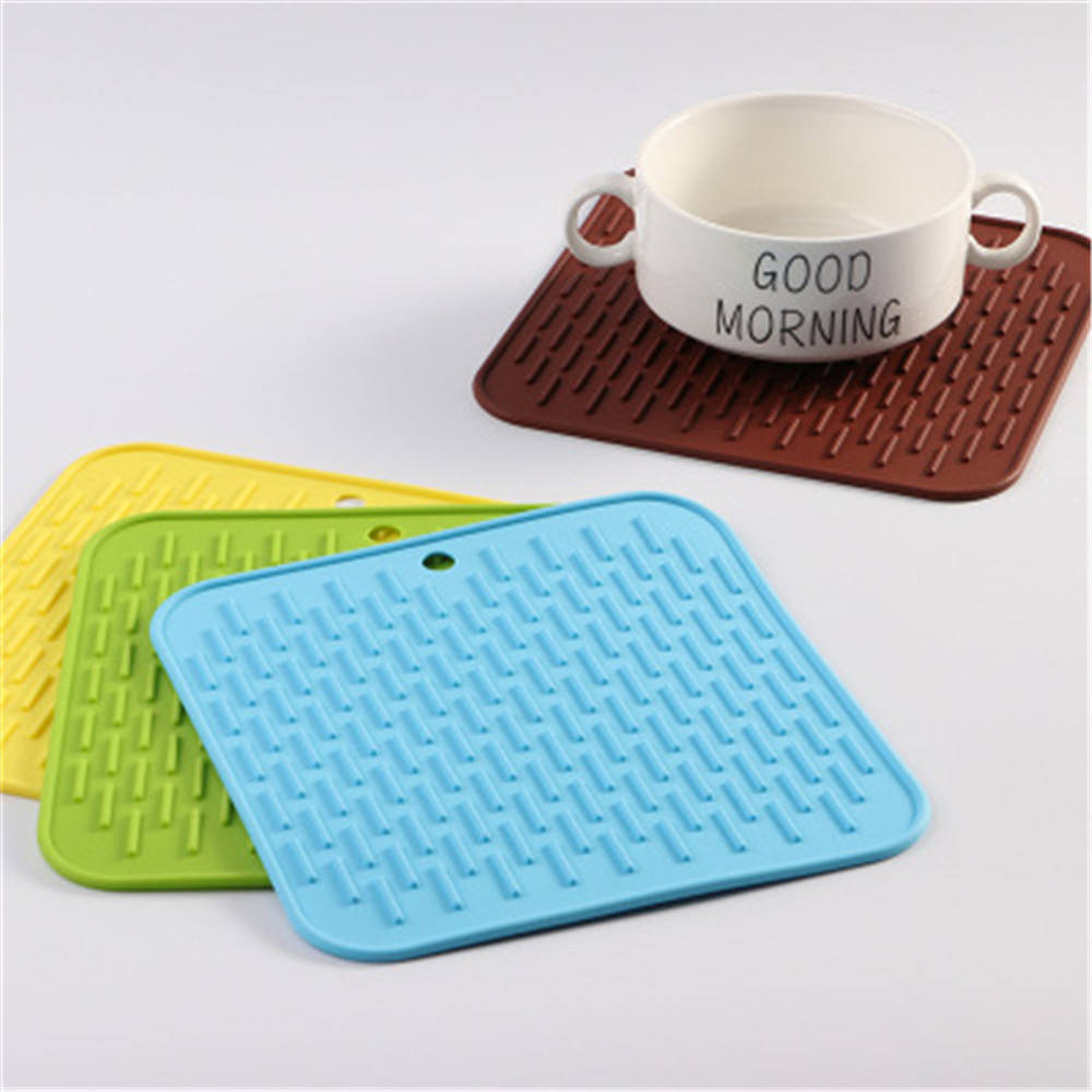 Non-slip Square Silicone Coaster Trivet Mat Heat Resistant Pad Hot Pan Holder Hot Pad Cup Coster Mats Spoon Rest Mat