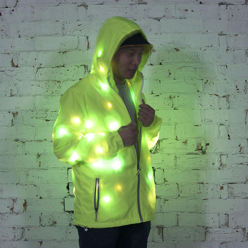High Quality led jacket Leisure&sports Wears Luminous Clothes Colorful Lighting Costume Washable Clothing Flash led light jacket