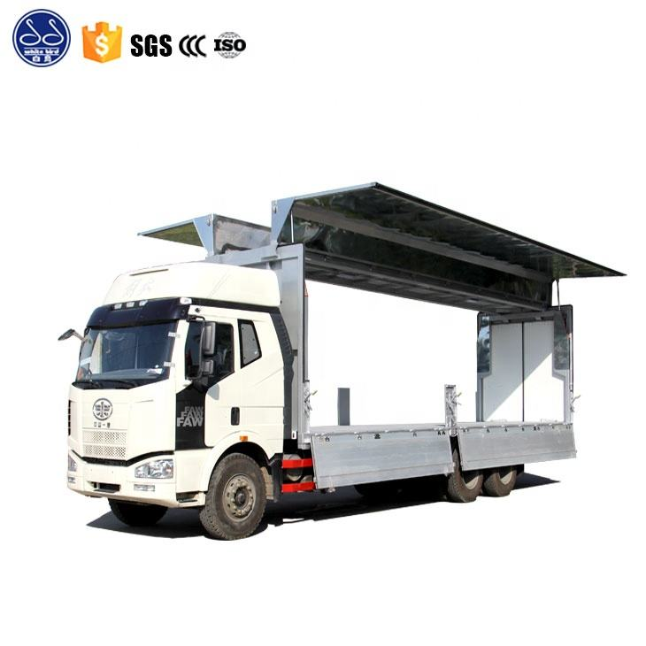 Hot Sale HOWO 6 Wheeler Forward Wing Van And Dropside Truck
