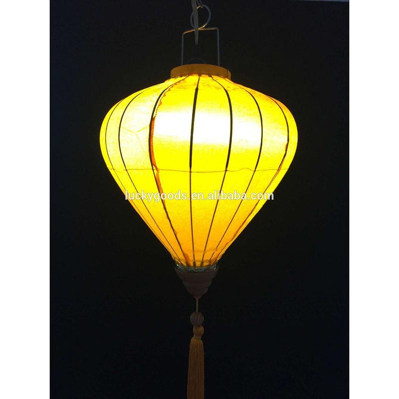 yellow solid color vietnamese silk lanterns