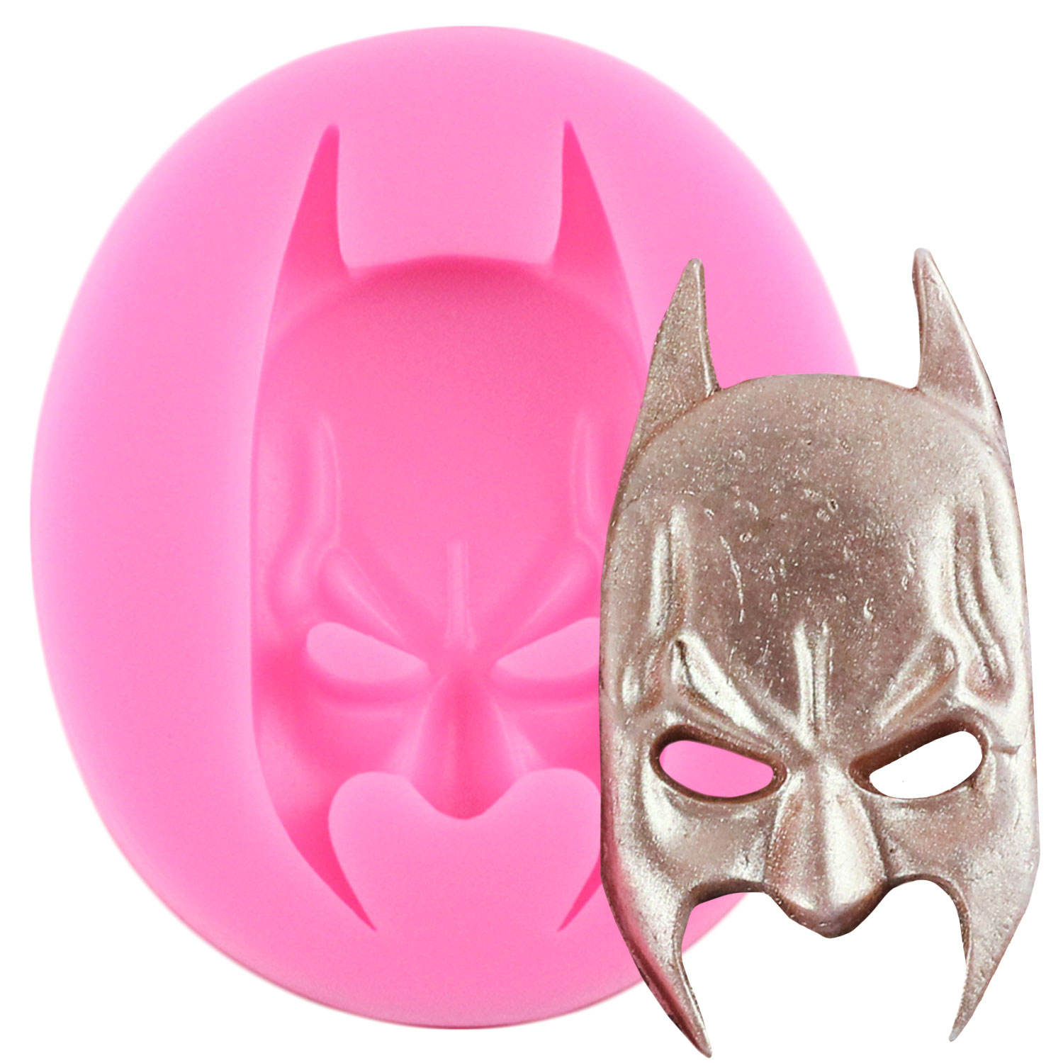 3D Superman Spiderman Batman Silicone Molds Fondant Chocolate Candy Clay Mold Face Silicone Cake Mold Cake Decorating Tools
