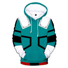 Custom Hoodies Anime Boku No Hero 3D Printed Hooded Sweatshirt My Hero Academia Sportswear Sweatshirts
