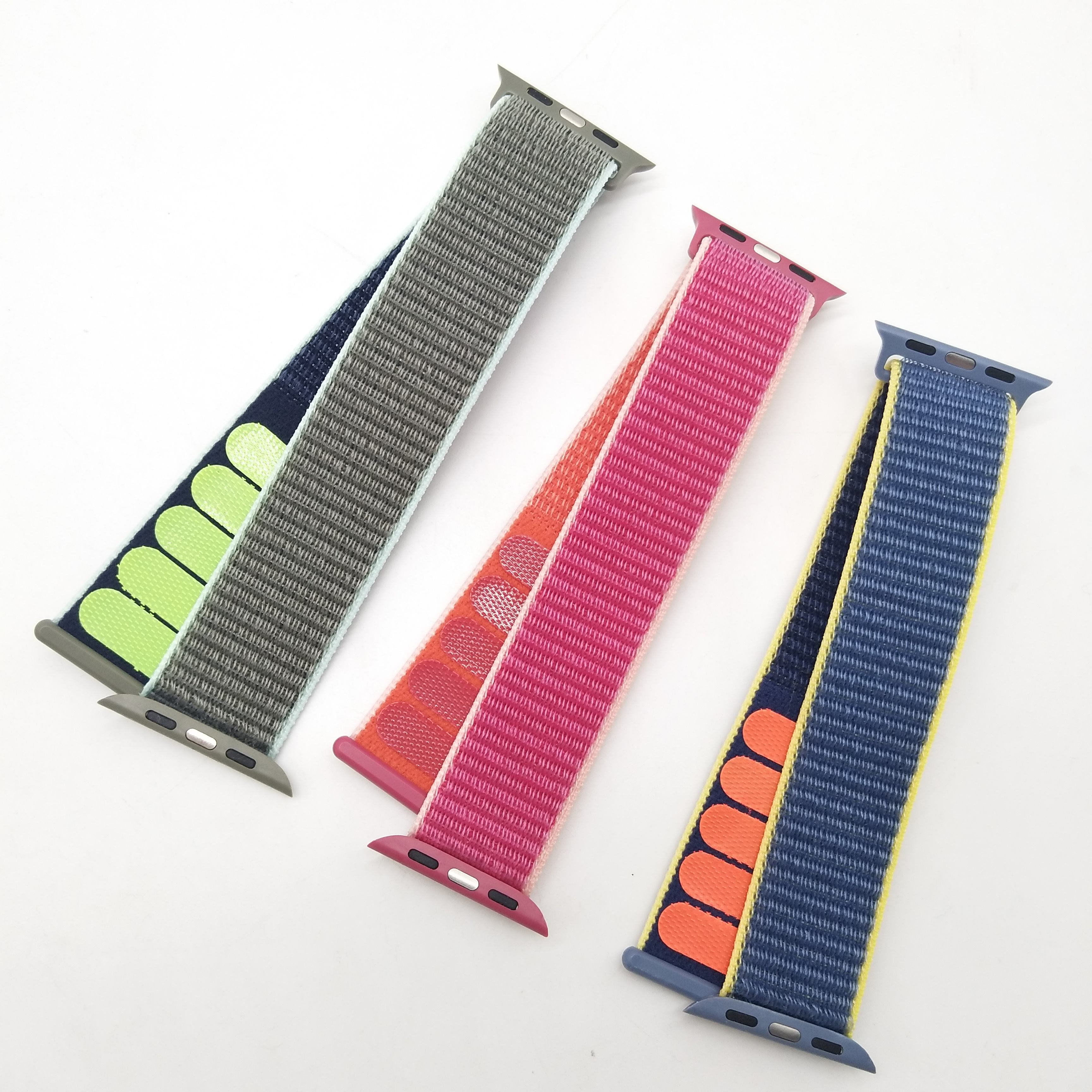 Ribbon [ Band Watch ] Cheap Price Reflective Nylon Sport Loop Band For Apple Watch Band Strap
