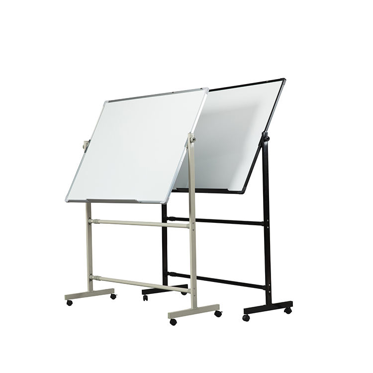 Large/ small double slide whiteboard folding stand movable whiteboard