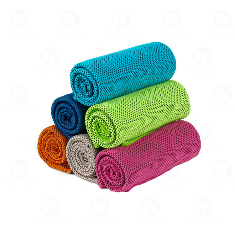 wholesale nylon ice cooling gym towel yoga towel golf towel for face and hand
