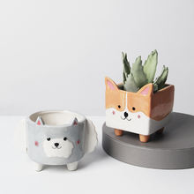 Hot Sale Cute Corgi Animal Flower Pot
