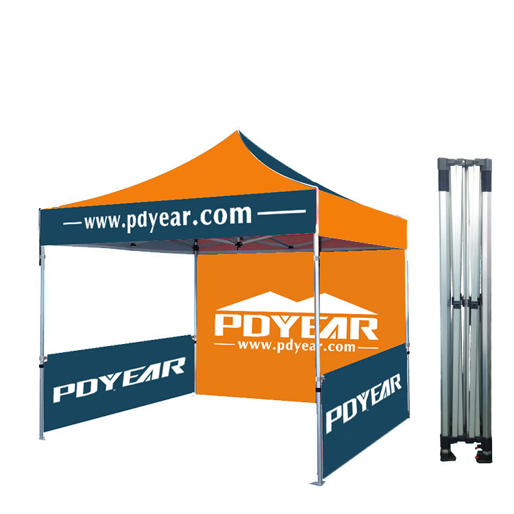 Logo 10x10 custom print advertising promotional pop up event folding aluminium marquee gazebo canopy roof top trade show tent