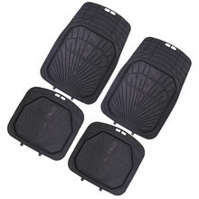 Mud Mats Rubber pvc Extra heavy duty car mats 4pcs Over Size Trim to fit car mat logo heel pad