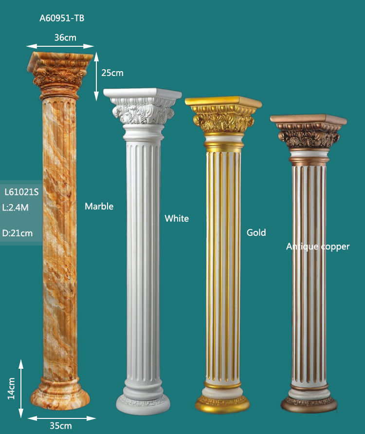 Roman column gold pedestals decorative columns decorative pedestals roman pillars column molds for sale