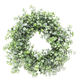 Summer door hanging window decor evergreen mint green and fresh mint wreath wholesale preserved mint round wreath