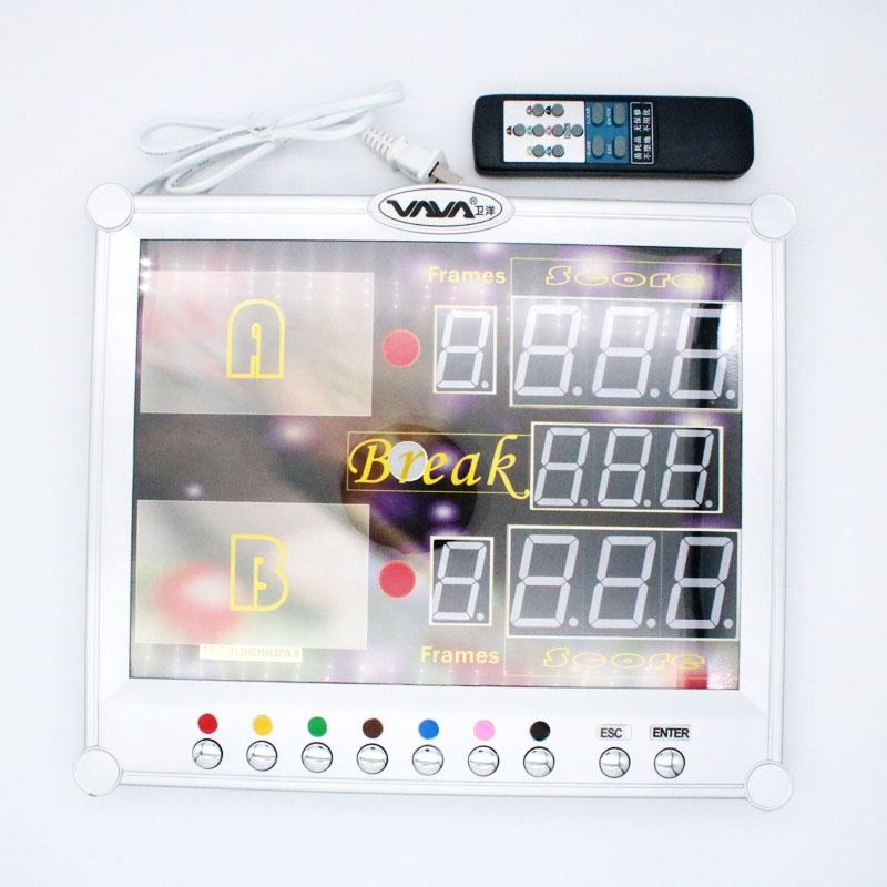 Electronic Snooker Scoreboard with wireless remote controller
