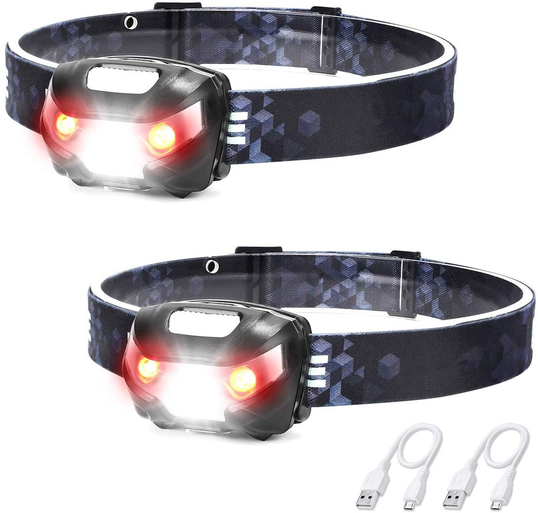 LED Rechargeable Headlamp Flashlights Adjustable And Comfortable Headlights With 5 Lighting Modes