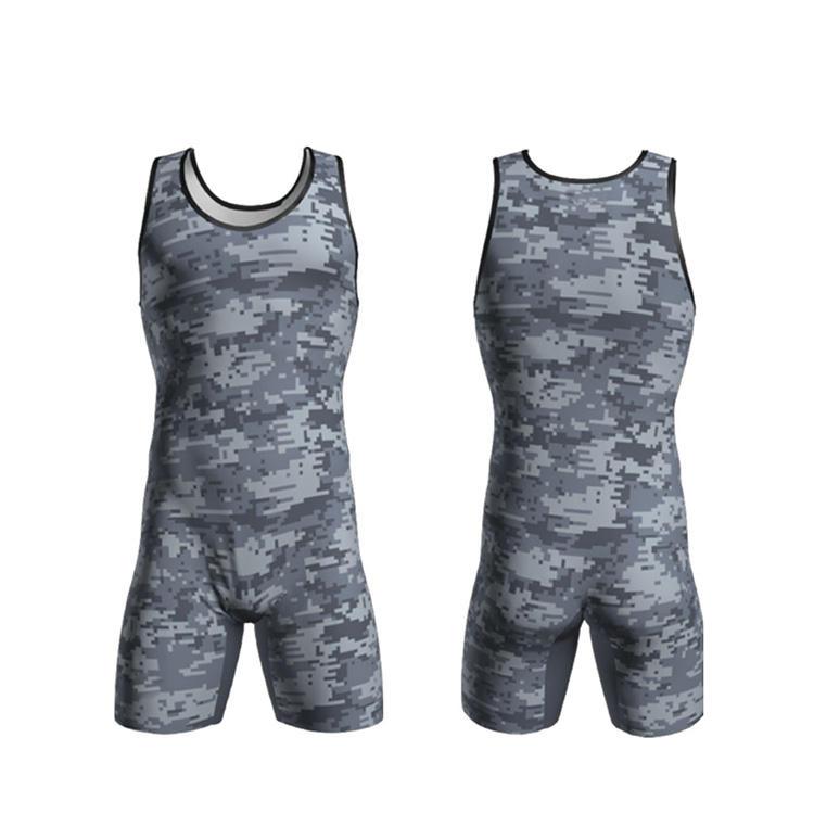 wholesale custom blank wrestling singlet for men/women, new design sleeveless sublimation camo youth wrestling singlet wear