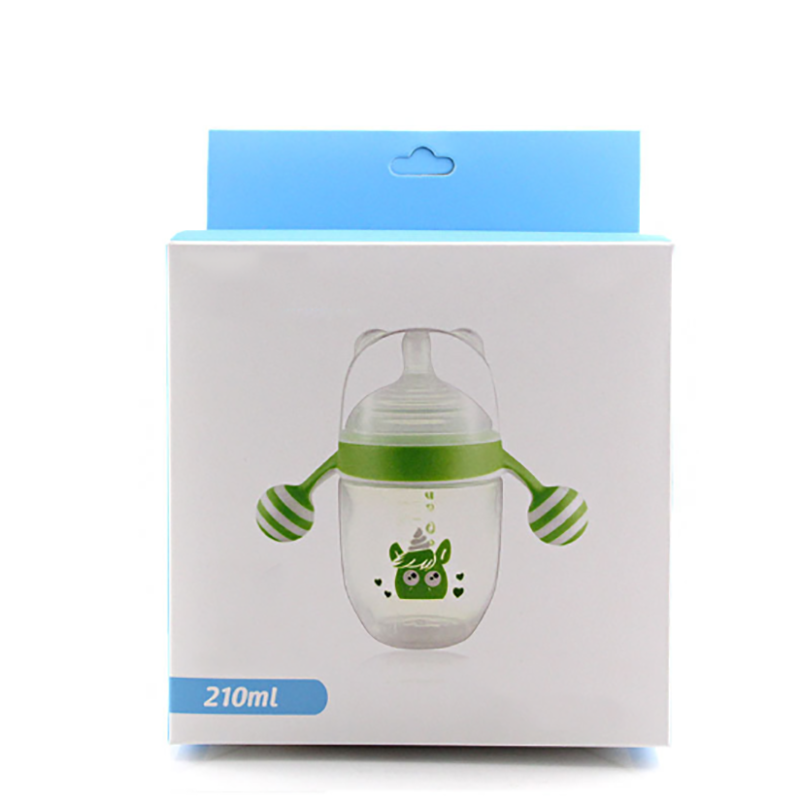 Hot Selling 360 Degree Gravity Ball Straw Anti-fall Wide Caliber Breastfeeding Baby Bottle Plastic Feeding Supplies