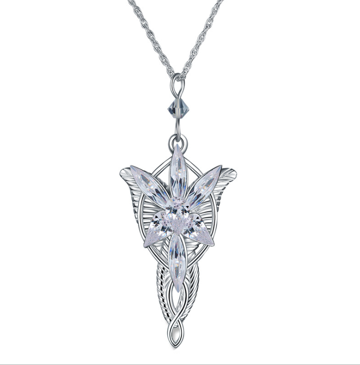 Thatsjewelry Genuine 925 Sterling Silver The Lord of Rings Arwen's Necklace with pendant arwen evenstar pendant