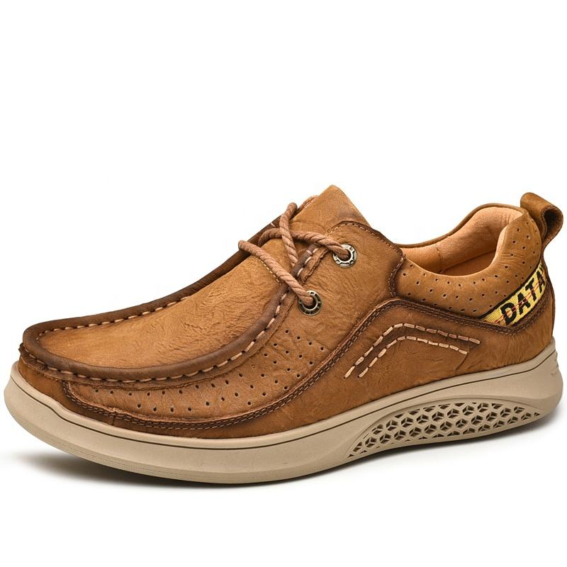 Wholesaler OEM Factory China Genuine Leather Shoes Men's Casual Shoes