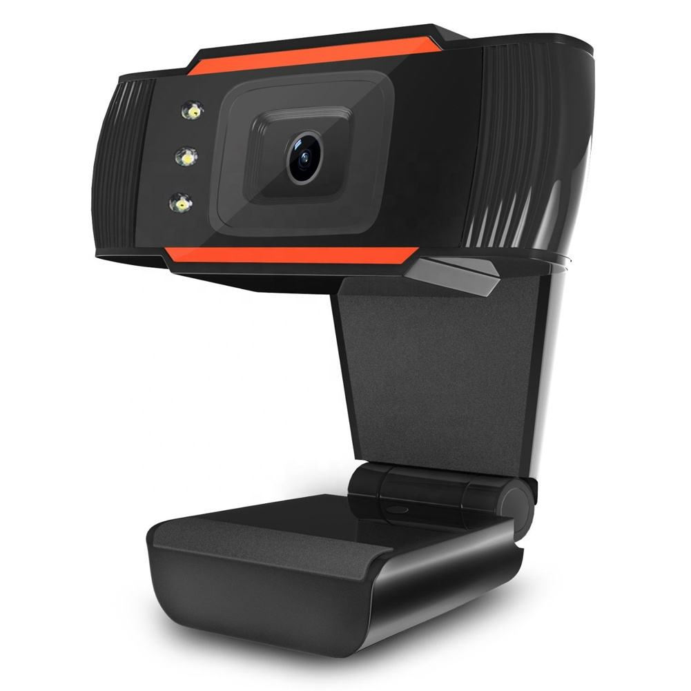 LED Lights HD Webcam 12.0 Million Pixels Video Conference Camera USB Web Cam