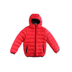 High quality popular red nylon fabric boy cotton jacket
