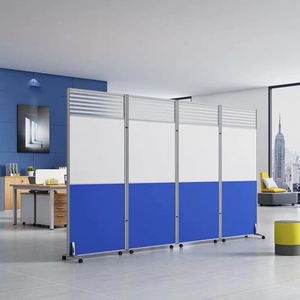 Aluminum Free Connection To Moving Screen Standing Partitions With Wheels