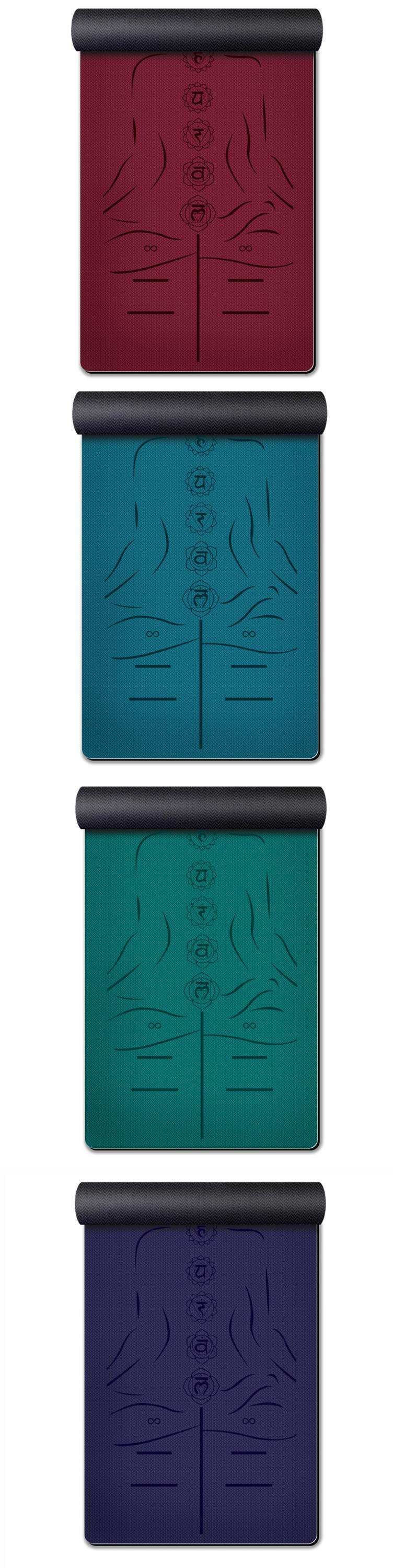 Rubber [ Tpe Yoga Mat ] Mat Fitness New Product TPE Rubber Yoga Mat