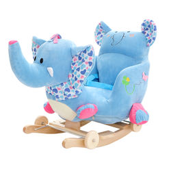 Kids perferred plush custom blue elephant stuffed baby horse toy