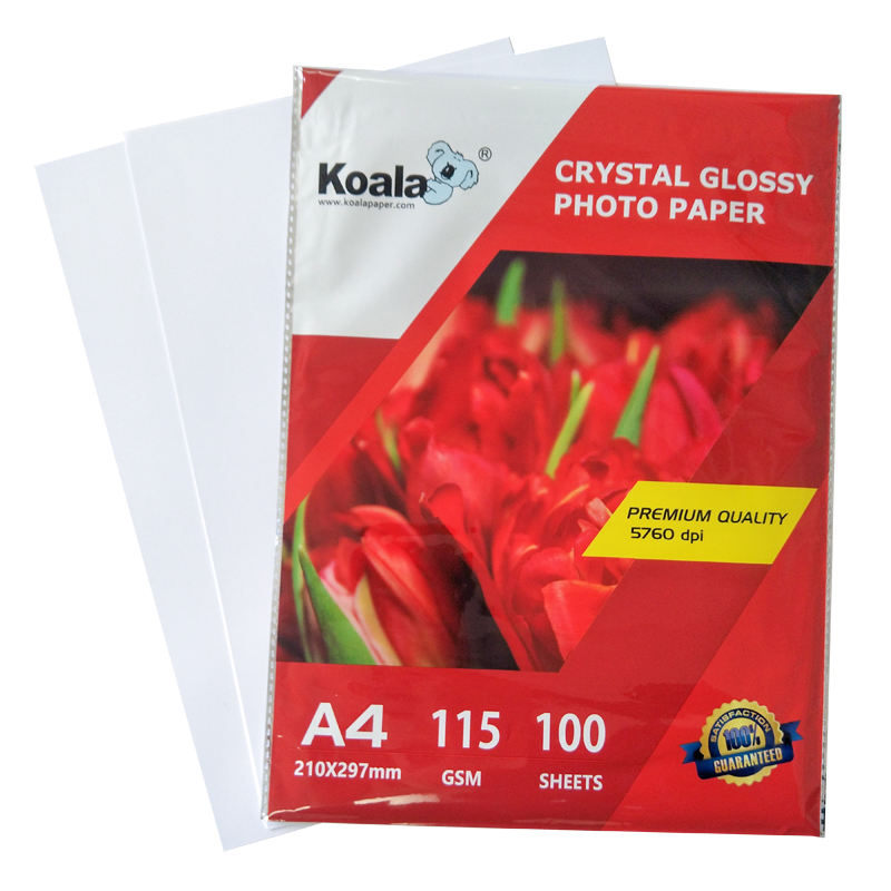 kOALA 115g High glossy waterproof inkjet photo paper A4*100sheets