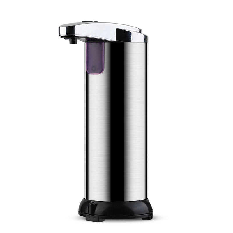 Stainless steel standing electronic automatic hand liquid foam soap dispenser pump for bathroom hotel