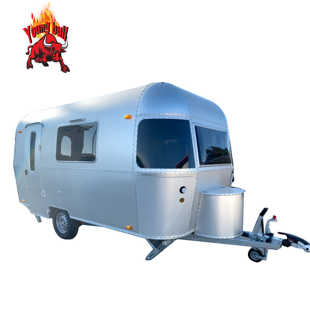 Aluminum Airstream ice cream cart for sale world wide with VIN number