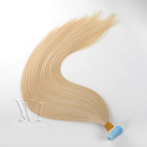 VMAE Unprocessed Virgin Russian 2.5g/40 Pieces Straight Natural Color 613 Blond Double Drawn Tape In Human Hair Extensions