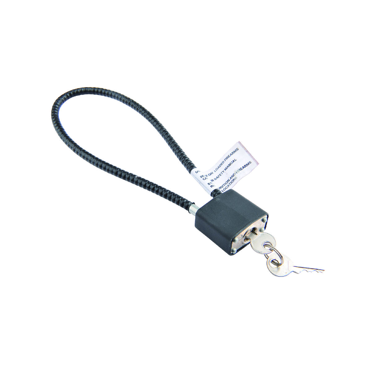 Rifle gun cable lock for guns gun safe