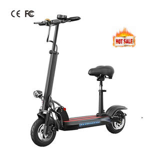 High Power 800W 48V 10 Inch E with Seat Foldable Adult Kick Folding Mobility Delivery City Profesional Oem Electric Scooter