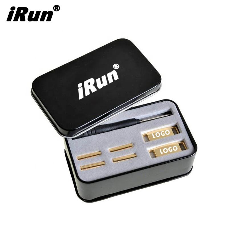 iRun Premium shiny gold Metal fashion af1 shoe lace dubrae charms lock