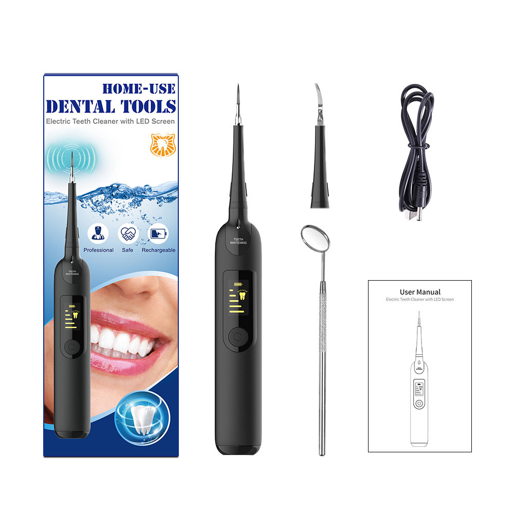 Home Oral Ultra Sonic Teeth Cleaner Dental Care Tooth Cleaning Water Flosser For Teeth Calculus Remover Stain Cleaner OEM/ODM