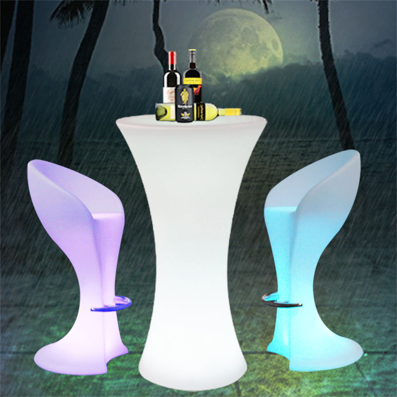 cocktail table round led light party cocktail folding bar table luminous furniture outdoor waterproof colored light high table