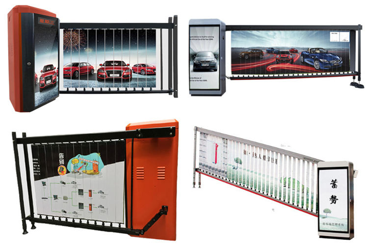 Remote control car access advertising parking barrier gate
