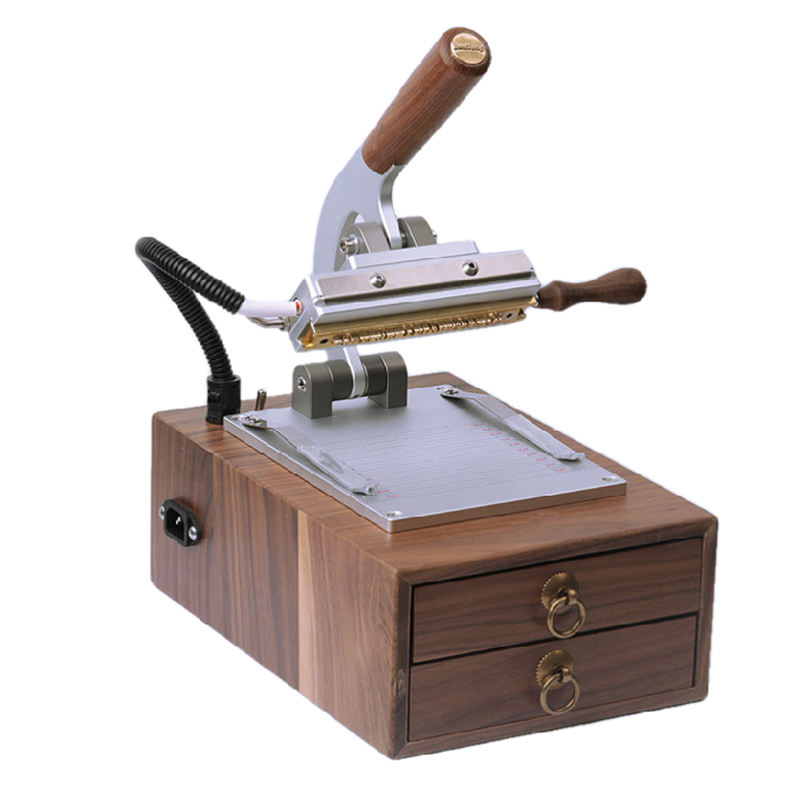 Handleiding Retro Leer Hot Stamping Machine Pu Lederen Movable Type En <span class=keywords><strong>Combinatie</strong></span> Koper Mold Branding Heet Persen Logo Machine