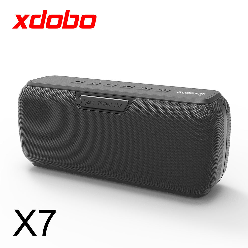 XDOBO X7 Bluetooth Lautsprecher 50w Super Bass Wasserdichte IPX5 TWS Funktion 6600mAh Batterie Typ-c USB Port