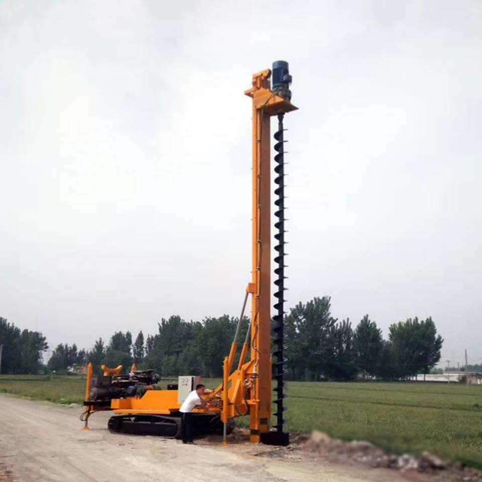 Tracks hydraulic pile driver 10m 20m drilling machine