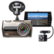 Dual Dash Cam 4 inch IPS Screen car dvr Full HD 1080P 6G Lens Car Dashboard Camera Recorder with Front and Rear camera