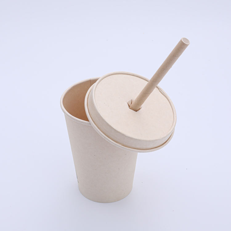 disposable paper lids 100% degradable Bagasse Sugarcane for hot drink packing paper coffee cup cover