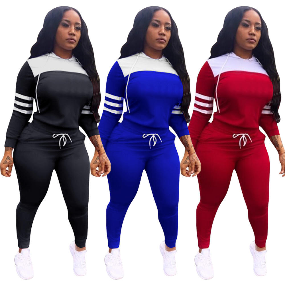 on sale Fashion Solid Top Pants Outfits Two Piece Set Women Clothing for Women